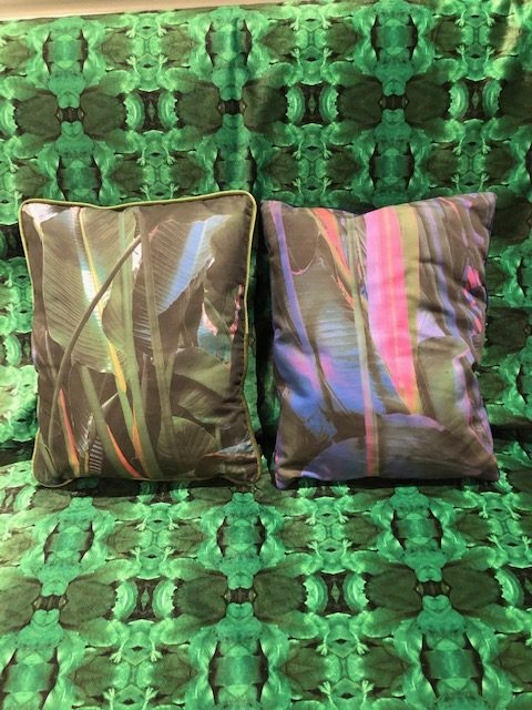Tropical Oasis Custom Pillows by AVR Interior Design